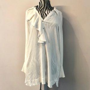 Free People Boho Chic White tunic
